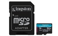 Kingston 64GB microSDXC Canvas Go Plus 170R A2 U3 V30 Card + ADP